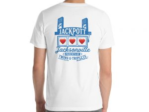 Short-Sleeve Unisex T-Shirt – JACKPOTT Hearts on Back