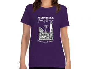 Marshall Family Reunion Women's short sleeve t-shirt – White Text